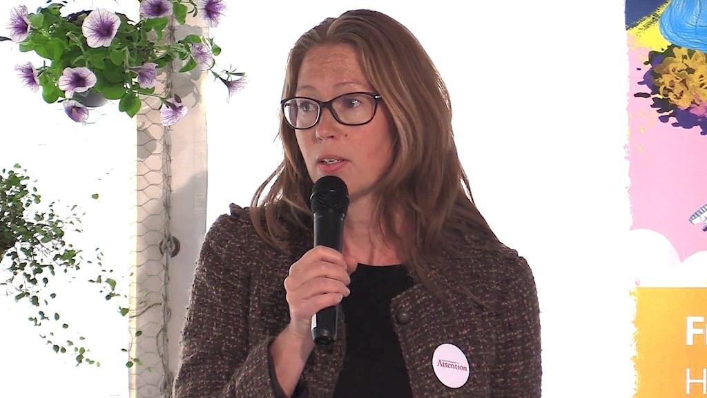 Annica Nilsson, intressepolitisk ombudsman på Attention. Foto: Pressbild.