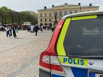 Polisen stoppade demonstration på Stora torget
