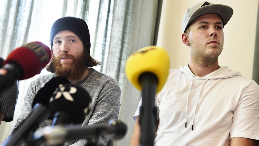 Robin Dahlén och Christian Karlsson. Foto: Noella Johansson/TT.