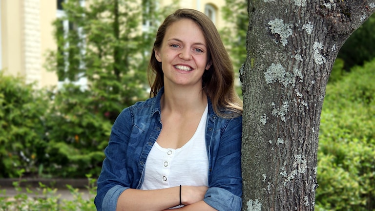 Emma Dahlström, semesterpratare 2017. Foto: Örjan Bengtzing/Sveriges Radio