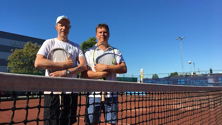 Mikael Viljhálmsson och Jonas Wahrolin. Foto: Gustav Jakobsson