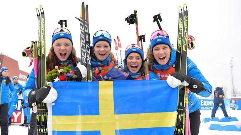 Sveriges damlag på skidskyttestafetten i VM i Östersund