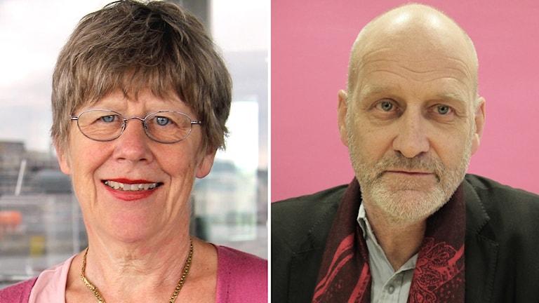 Agnes Wold och Carl-Gustaf Bornehag. Foto: Emma Svensson och Lars-Gunnar Olsson/Sveriges Radio.