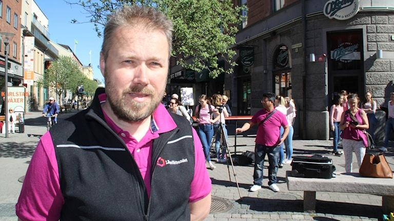 Pontus Larson vice ordförande Lärarförbundet Karlstad Foto: Peter Caldarulo