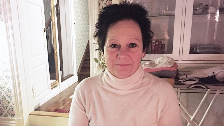 Gun-Britt Westin, sjuksköterska i Torsby. Foto: Louise Uhlin/Sveriges Radio.