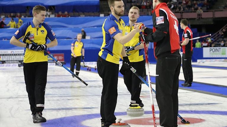 Lag Edin vann mot Schweiz i Semifinalen med 6-5. Foto:© WCF / Richard Gray