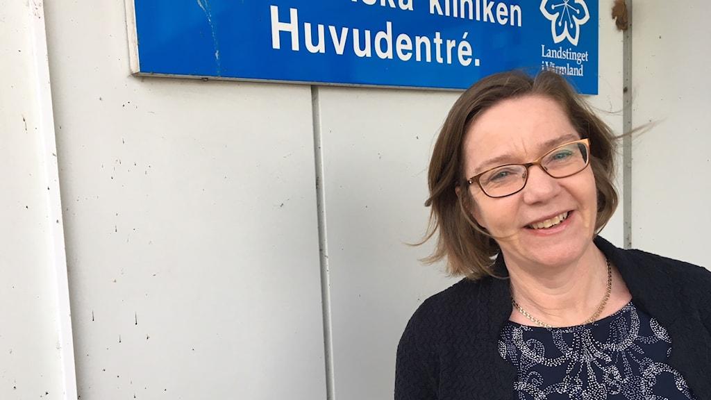 Maria Unenge Hallerbäck, överläkare på barn och ungdomspsykiatriska kliniken i Värmland.