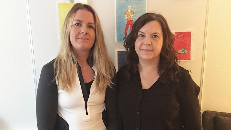 Susanne Olsson och Eva-Lena Ueltzhöfer. Foto: Louise Uhlin/Sveriges Radio.
