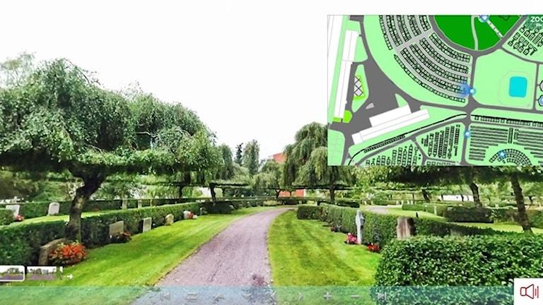 Bild från en kyrkogård. Foto: Karlstads pastorat.