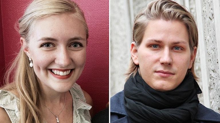 Emelie Hebbe och Ole Bang. Foto: Sveriges Radio.