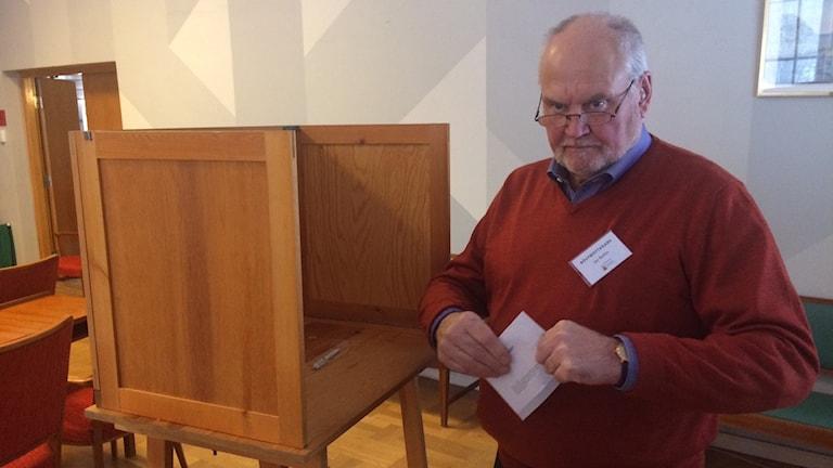 Jan Bohlin, ordförande i valnämnden i Hagfors kommun.