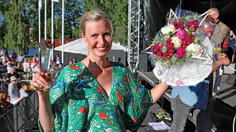 Clara Sjöberg vinnare i P4 Nästa 2018. Foto Örjan Bengtzing/Sveriges Radio.