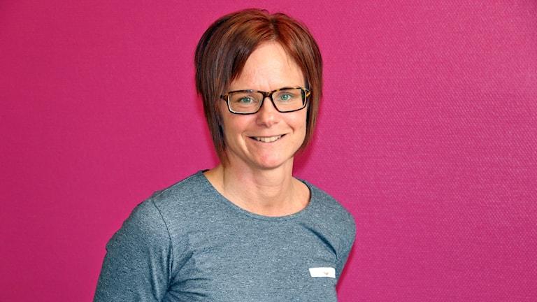 Camilla Olsson, kanslichef Värmlands innebandyförbund. Foto: Örjan Bengtzing/Sveriges Radio.