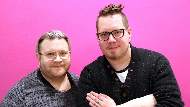 """Simon Åhs och Fredrik """"Frippe"""" Myhrer."""