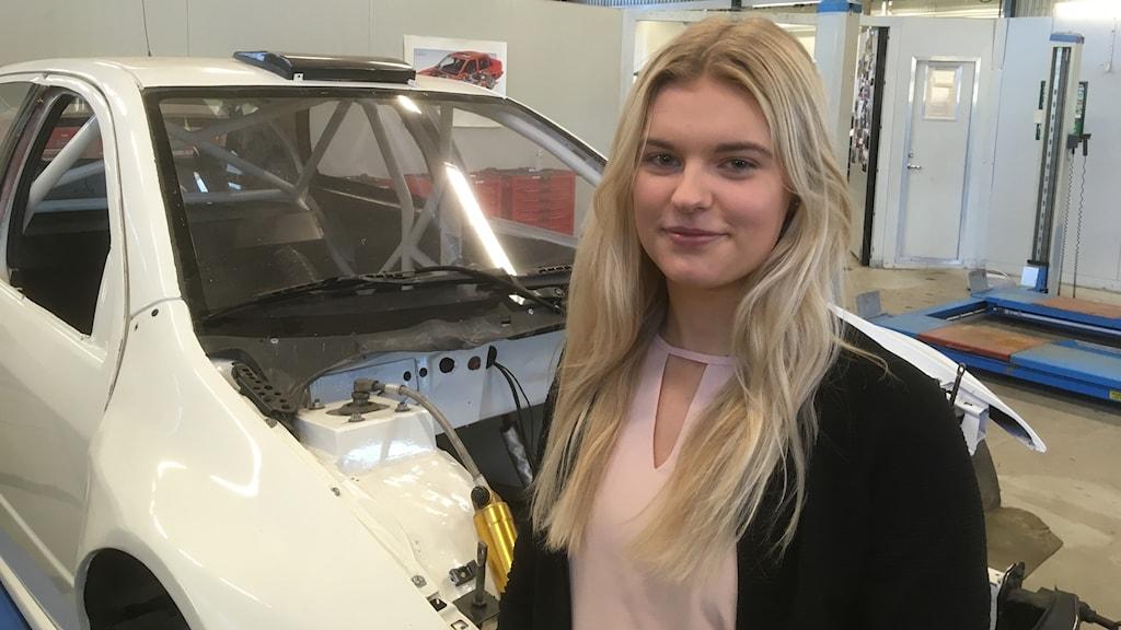 Elina Svensson tävlingsmekaniker