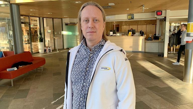 Fredrik Ohlsson, ordförande Karlstad IBF. Foto: Felix Hall/Sveriges Radio.