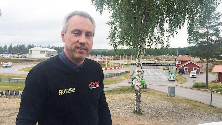 Morgan Östlund, Finnskoga Motorklubb. Foto: Malin Björk/Sveriges Radio.