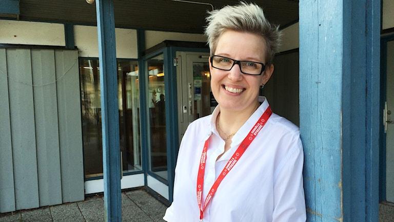 Madelene Nyström, personalansvarig på teknik- och fastighetsförvaltningen. Foto: Veronica Lindström/Sveriges Radio