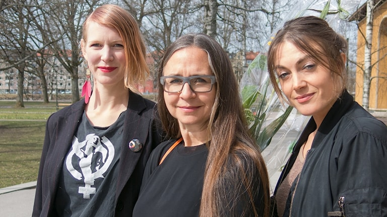 Sara Falkstad , Helene Karlsson och Sara Broos. Foto: Pressbild