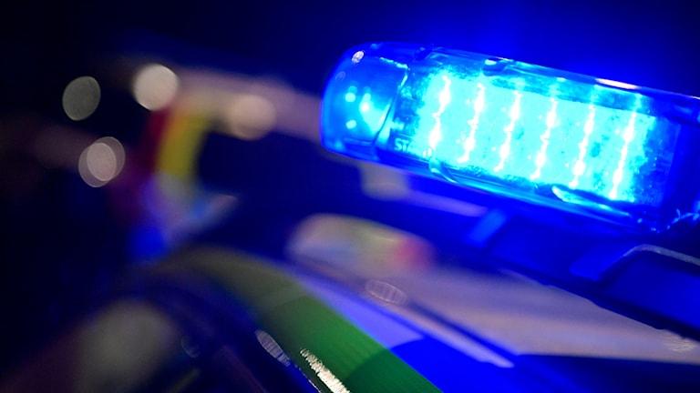 Polisbilar med blåljus. Foto: Johan Nilsson/TT.