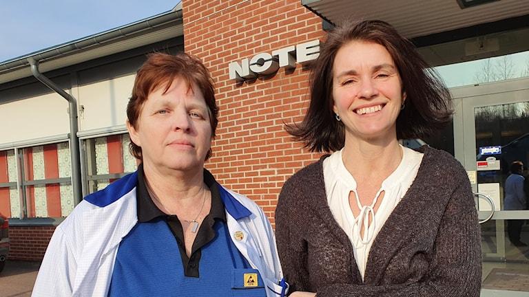 Ingela Johansson och Karin Nichols. Foto: Aron Eriksson/Sveriges Radio.