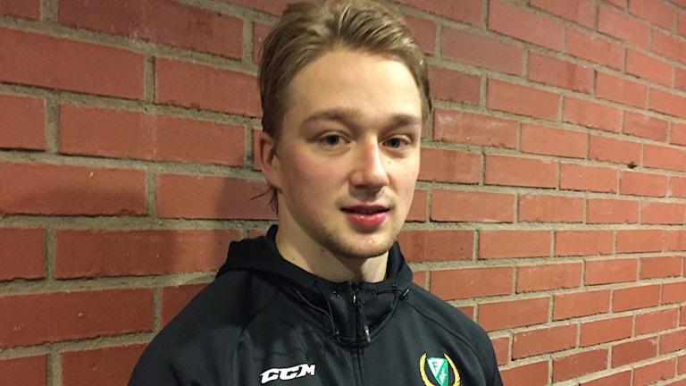 Rasmus Asplund, Färjestad, landslagsdebuterar.