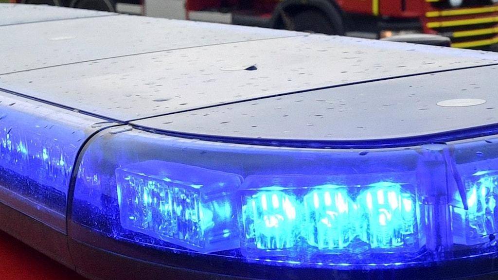 Blåljus från räddningstjänstfordon. Foto: Johan Nilsson/TT/Arkiv.