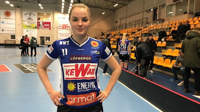 Frida Swahn och Karlstad har det fortsatt tungt. Foto: Daniel Viklund/ Sveriges Radio.