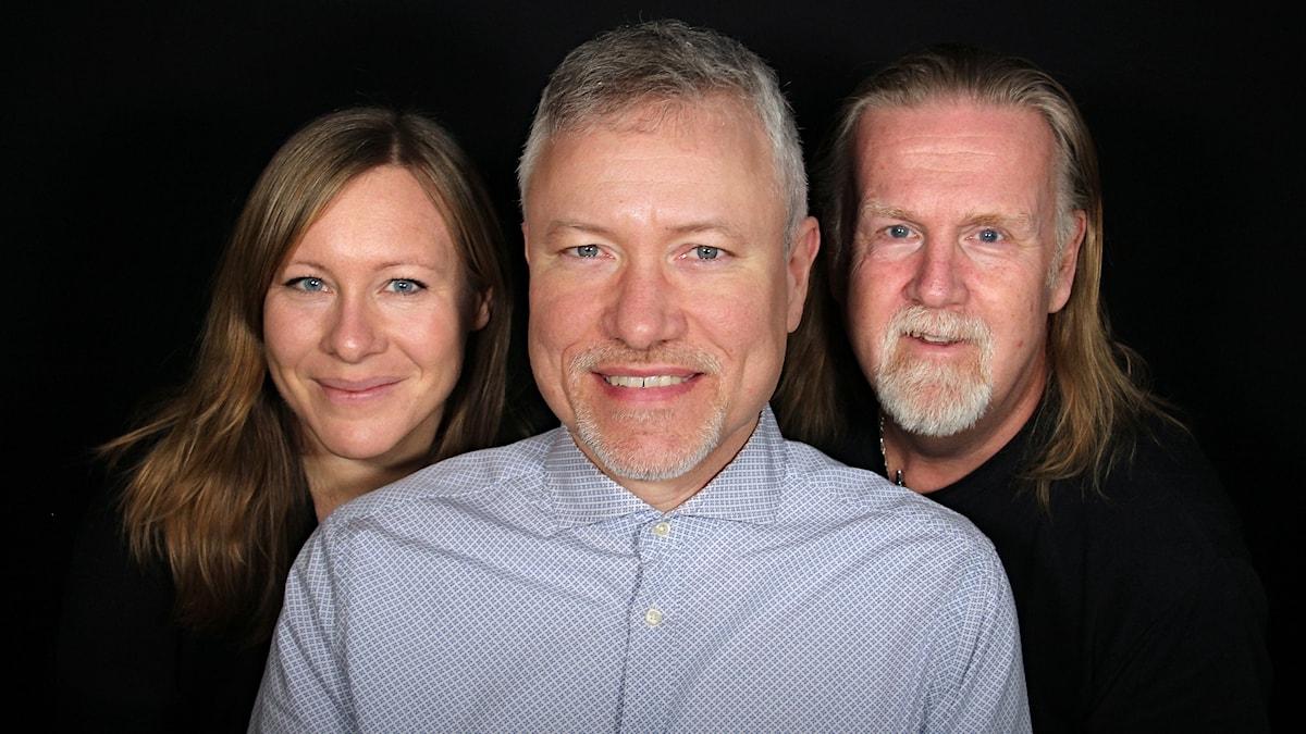 Frida Granström, Tomas Hedman och Björn Söderholm. Foto: Lars-Gunnar Olsson/Sveriges Radio.