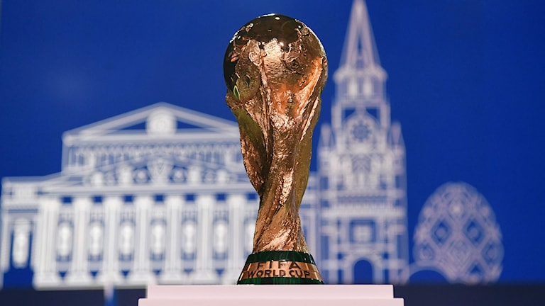 Fotbolls-VM-pokalen.