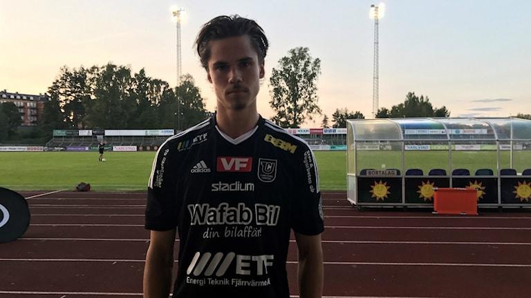 Claes Nyman efter förlusten mot IK Sirius i Svenska Cupen. Foto: Daniel Viklund/ Sveriges Radio.