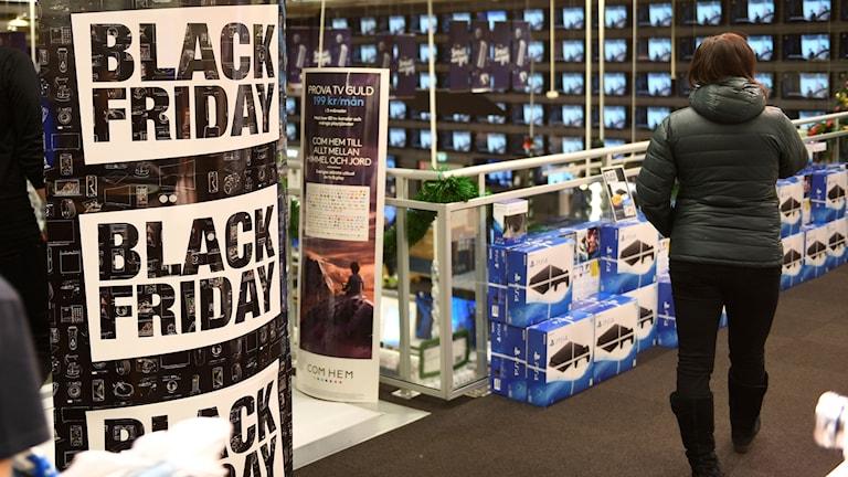 Balck Friday i en svensk butik. Foto: Henrik Montgomery/TT.
