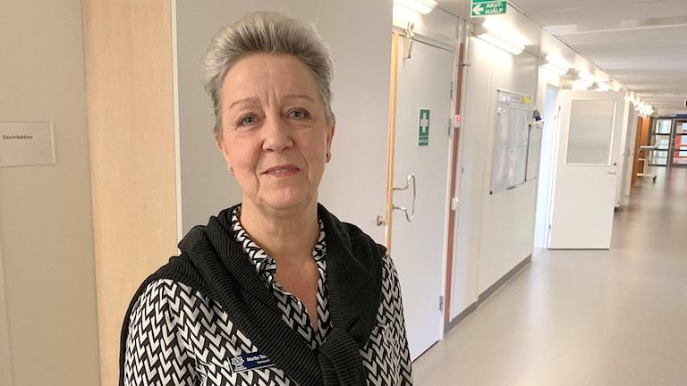 Marita Toreheim Kase, verksamhetschef Neurologi- och rehabiliteringskliniken. Foto: Gustav Jacobson/Sveriges Radio.
