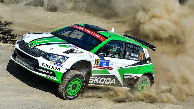 Tidemands bil i Rally Mexico.