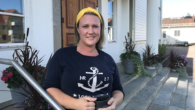 Maria Persson i leaderprojektet Nya friska tag initiativtagare till saluhallen på torsbymârten