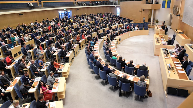 Plenisalen i riksdagen. Foto: Fredrik Sandberg/TT.