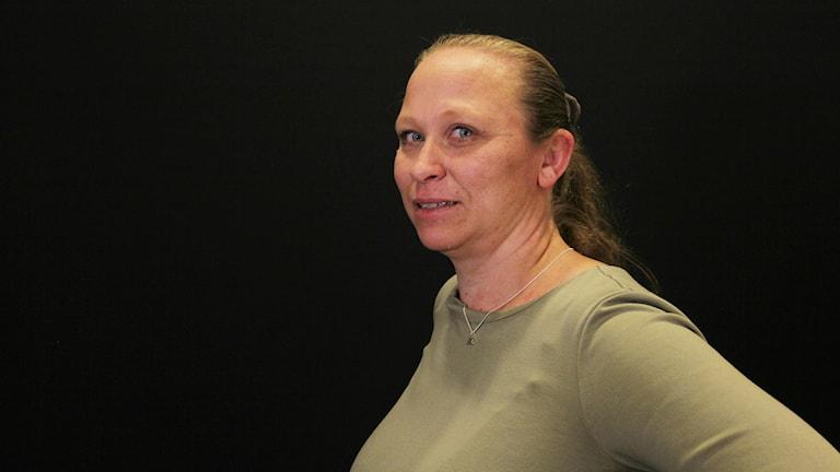 Pia Elofsson, förälder till ett barn som blivit frisk från ätstörningar. Foto: Amanda Moln/Sveriges radio.