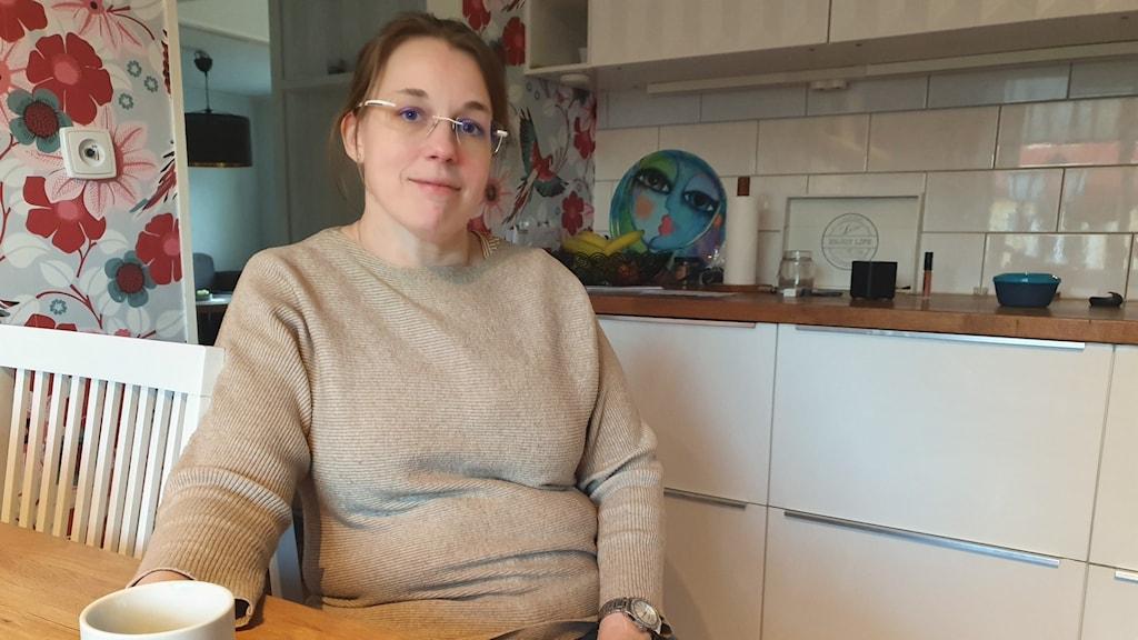 Maria Bohlin vars dotter har typ 1 diabetes berättade tidigare i år om sin långa väntan på bidragsbeslut från Försäkringskassan. Foto: Aron Eriksson/Sveriges Radio