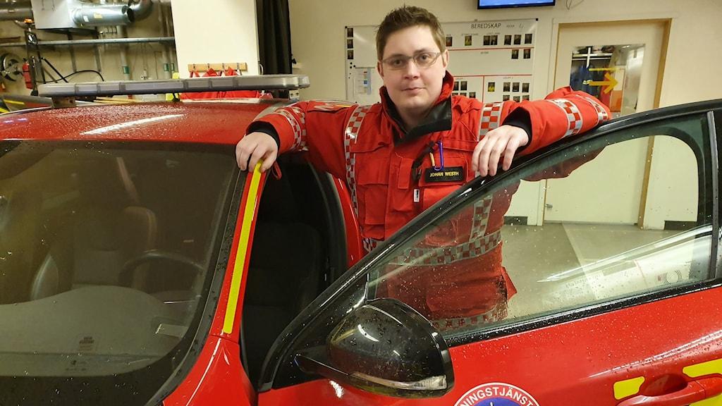 Johan Westh, ställföreträdande räddningschef i Torsby kommun. Foto: Aron Eriksson/Sveriges Radio.