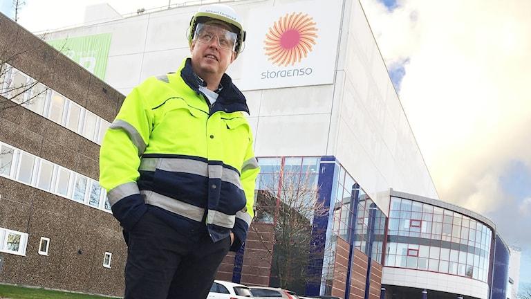 Mikael Forseryd, projektledare för stoppet på Skoghalls bruk. Foto: Sara Johansson/Sveriges Radio.