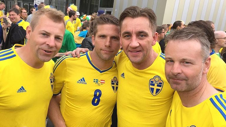 Per Klintberg, Anders Svensson, Mattias Johansson och Stefan Carlsson. Foto: Privat.