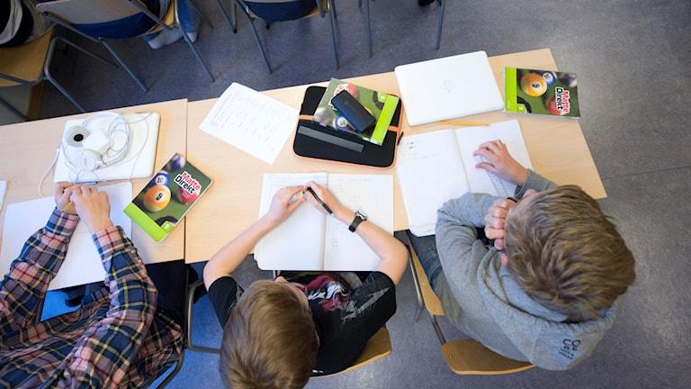 Ett klassrum. Foto: Fredrik Sandberg/TT.