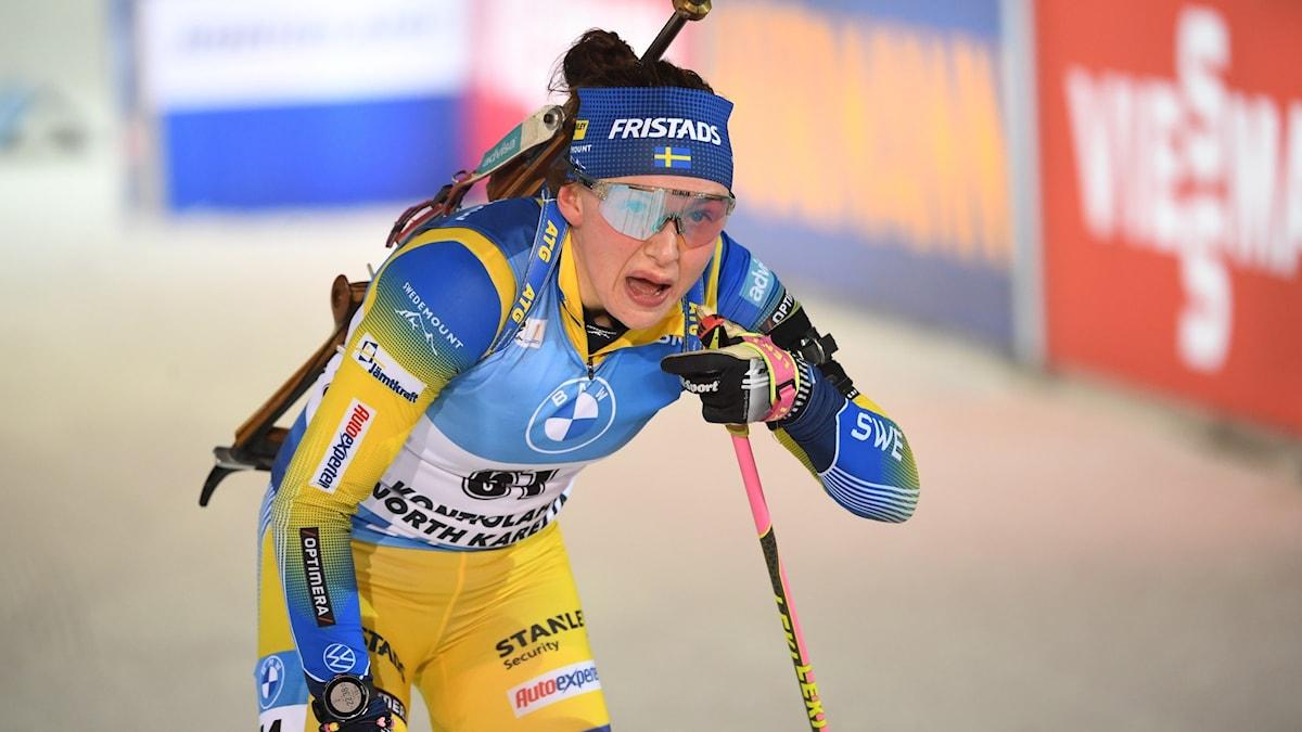 Skidskytten Linn Persson. Foto: Fredrik Sandberg/TT.