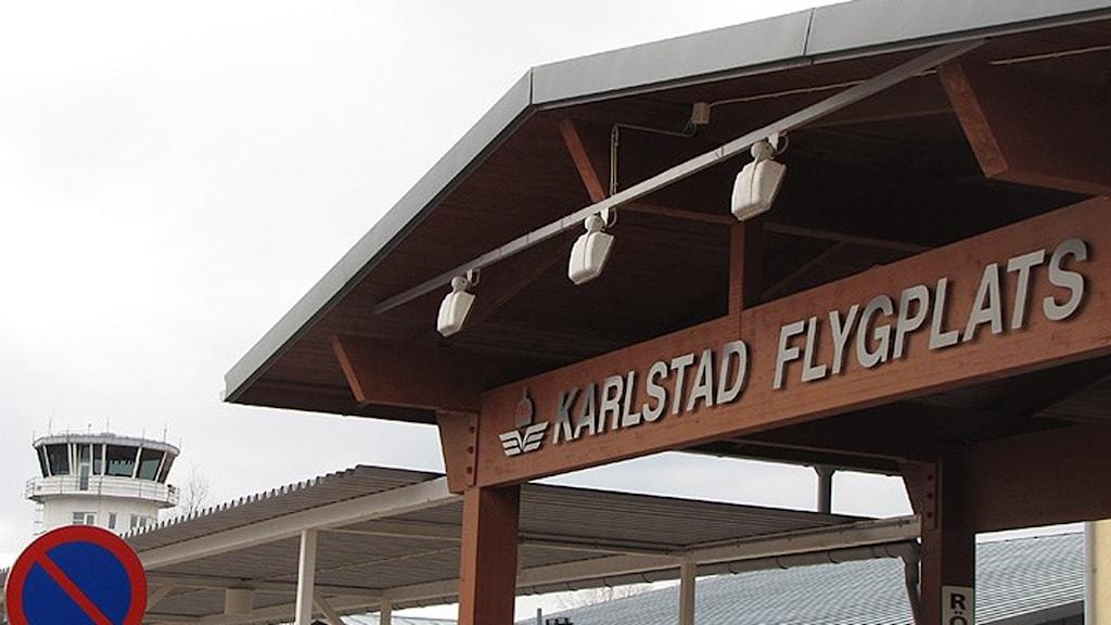 Karlstad flygplats. Foto: Andreas Ruuth/Sveriges Radio.