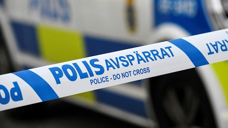 polisavspärrning. Foto: Johan Nilsson/TT