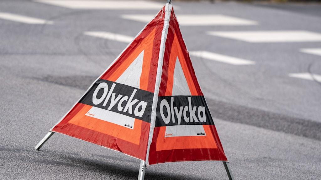 Olycka triangel. Foto: Johan Nilsson/TT