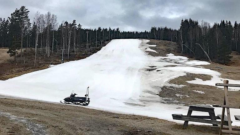 Valfjällets skidbacke. Foto: Sveriges Radio.