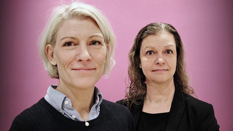 Sofia Tönnberg, ortschef Sogeti, och Linda Take, vd Blue Future. Foto: Lars-Gunnar Olsson/Sveriges Radio.