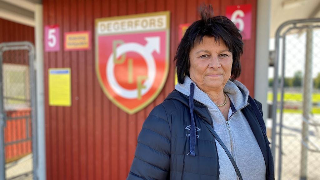 Suzanne Hällström Klubbchef Degerfors IF. Foto: Nick Strömgren/Sveriges Radio.