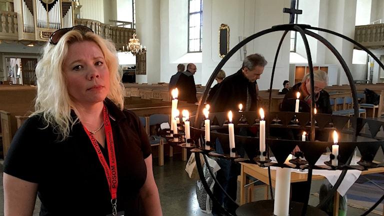 Anja Holmgren från kommunens Posom-grupp. Foto: Annica Ström
